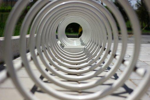 Spiral, Profound, Circle, Bicycle Parking Lock, City