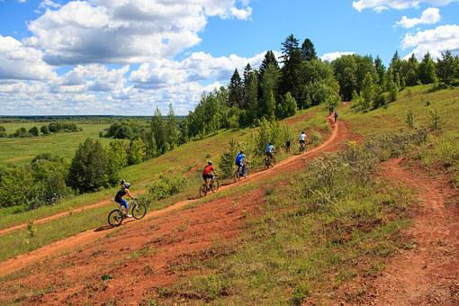Landscape, Bike, Race, Competition, Forest, Sky, Clay