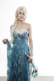 Winter Kingdom, Al-sa, Violin, Violinist, Cosplay