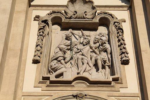 Crucifixion, Sculpture, M, Jesus, Church