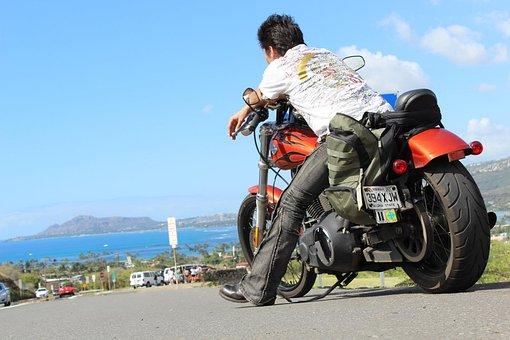 Bike, Hawaii, Harley, Sea, Touring, Journey