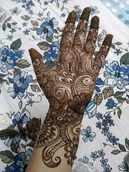 Mehendi, Henna, Traditional, Tattoo, India, Art