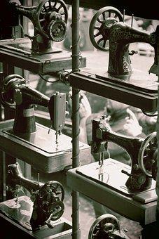 London, City, England, United Kingdom, Sewing Machine