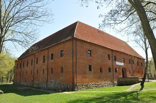 Castle, Monument, Fort, Brick, Building, Architecture