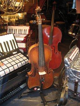 Violin, Accordion, Sale, Musical Instruments, Sound