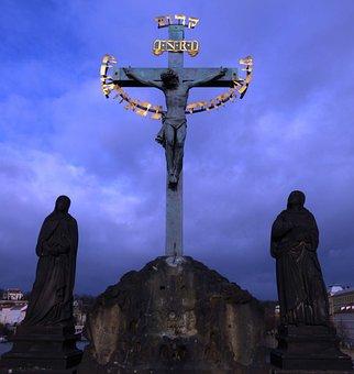 Cross, Jesus, Monument, Sculpture, Religion, God