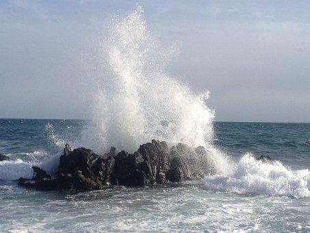 Onda, Sea, Storm, Aeolian Islands, Nature, Costa, Rocks