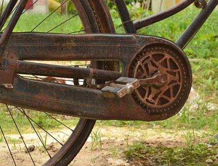 Rusty Bicycle, Vintage Bicycle, Onthel Bike, Pedal