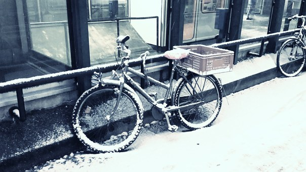 Bike, Snow, Winter, Snowed In, Mountain Bike, Wheel