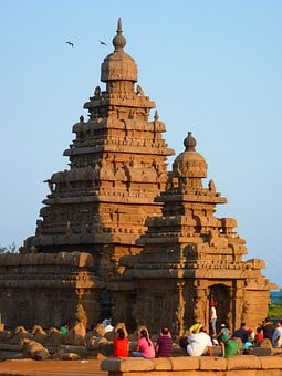 Temple, Sea Shore Temple, Granite, Stone, Mahabalipuram