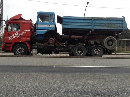 Truck, Vice, Piggyback, Recycling, Towing, Transport