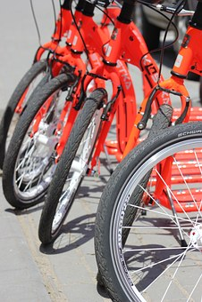 Bike, Orange, Red, Wheel, Outdoor, Transport, Street