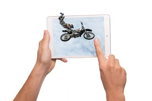 Tablet, 3d, Jump, Display, Ipad, Iman, Action, Hop