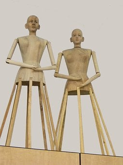 Manequin, Manikin, Wooden, Sewing, Seamstress, Antique