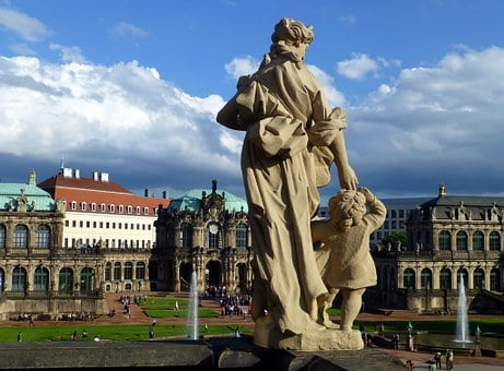 August The Strong, Dresden, Sculpture, Statue, Fig