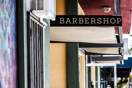Awning, Barbershop, Commercial Spaces, Signboard
