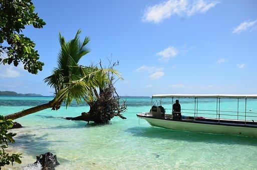 Boat, Passenger, Cruise, Attraction, Palau Beach, Bay
