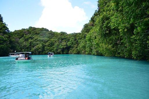Boating, Tourist, Palau Beach, Bay, Lake, Pond, Sea