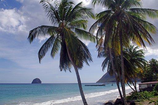 Beach, Rock, Diamond, Martinique
