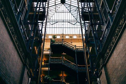 Architecture, Bradbury Building, Brick Wall, Building