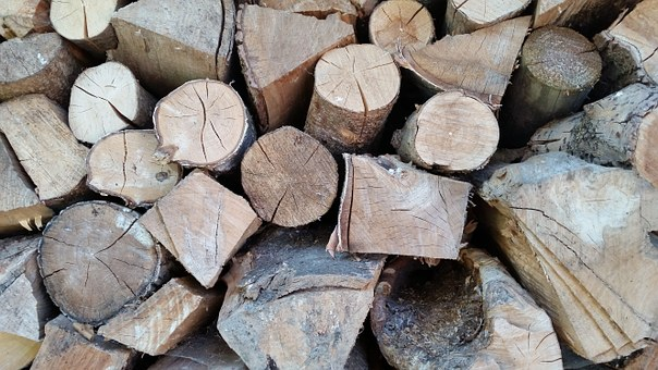 Wood For The Fireplace, Fireplace, Wood, Hack, Brown