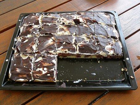 Cake, Kuchenblech, Danube Waves, Dessert, Sweet
