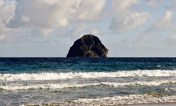 Martinique, Diamond, Rock Of Diamond, Beach