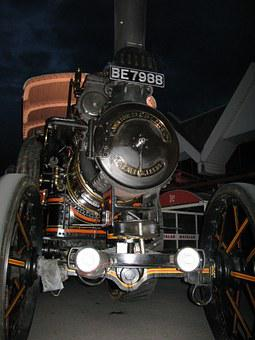 Steam, Engine, Traction Engine, Ste, Traction, Vintage