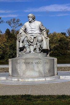 Statue, Sackville, Francisco Vigo Man, Statue Man