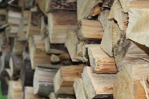 Holzstapel, Wood, Firewood, Growing Stock