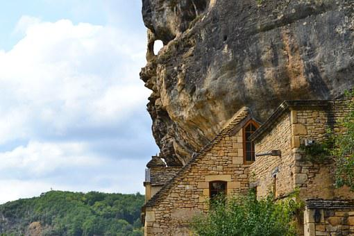 Cliff, House, Castling Gageac, Middle Age, Dordogne