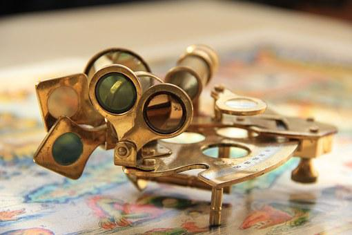 Instrument, Old, Sextant, Protractor, Show, Travel