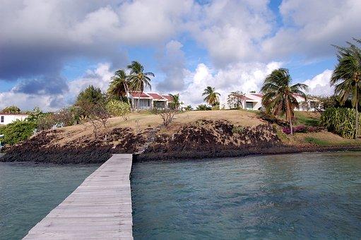 Saint François, Martinique, Beach, Ocean, Sky, Water