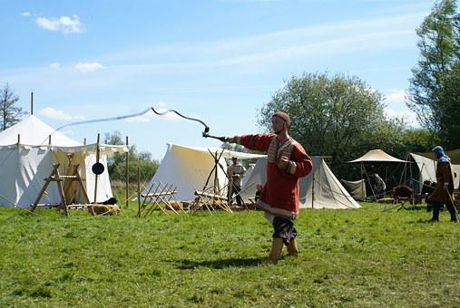 Whip, Middle Ages, Tents, Medieval Market, Show