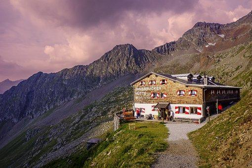 Clouds, Inn, Innsbrucker Hut, Mountain, Rocky Mountain