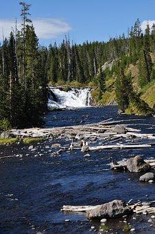 Yellowstone, National, Park, Waterfall, Wyoming, Travel