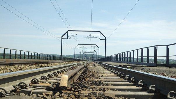 Railroad Tracks, Railway Bridge, Rails, Moresnet