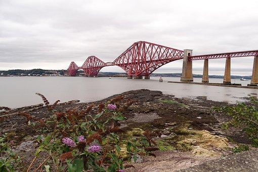 Scotland, Railway Bridge, Fith Of Forth