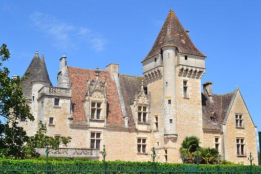 Castle, Chateau Des Milandes, Renaissance, Tower
