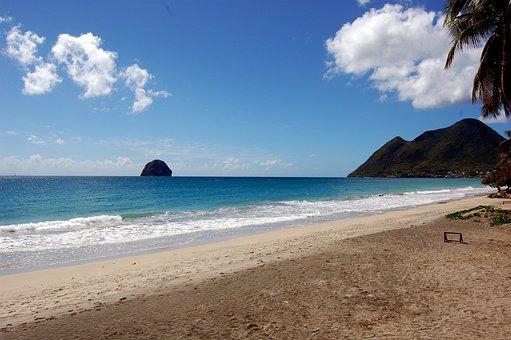 Beach, Ocean, Sea, Holiday, Saint Fransois, Martinique