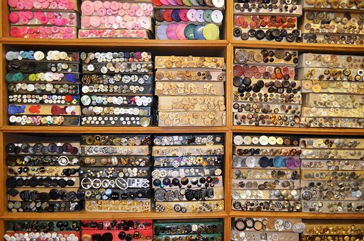 Buttons, Accessories, Knobs, Design, Set, Fashion