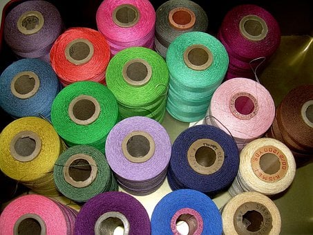 Threads, Spools, Vintage Thread, Colors, Cotton, Sewing