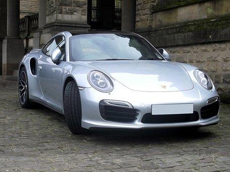 Porsche, Car, Sportscar, Racing, Silver, Road, Auto