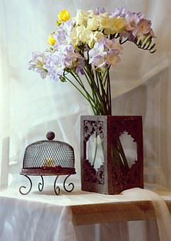 Freesia, Stand, Decoration, Flower, Bouquet