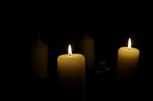Advent Wreath, Second Candle, Candles, Advent