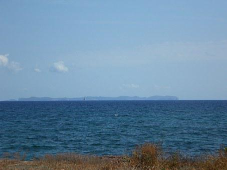 Horizon, Sea, Cabrera, Island, Land In Sight, Water