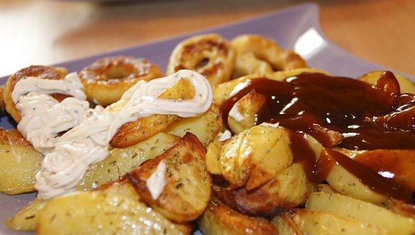 Remoulade Sauce, Ketchup, Potatoes, Calamaris, Eat