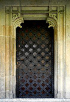 Door, Old, Gothic, Entrance, Hardware, Architecture