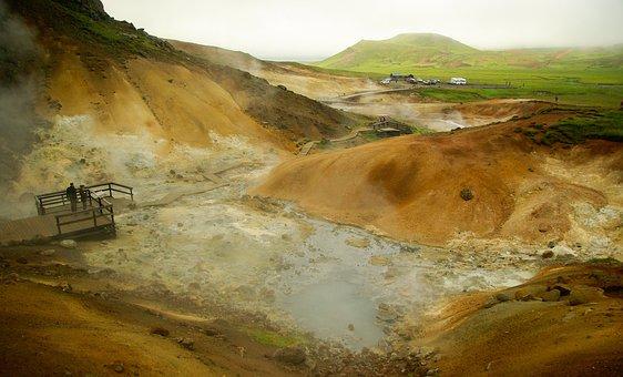 Iceland, Krísuvík, Volcanism, Geothermal