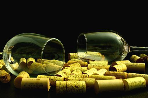 Stoppers, Bowls, Wine, Glass Of Wine, Cork, Cover